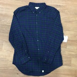 NWT Men's blue and green long sleeved flannel